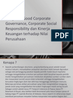 Pengaruh Good Corporate Governance, Corporate Social Responsibility