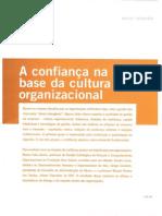 A confiança na base da cultura organizacional