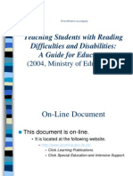 Reading Difficulties & Disabilities PowerPoint