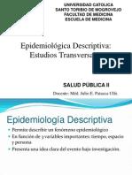 Clase 9_ Epidemiológica Descriptiva Estudios Transversales