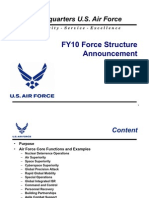 Air Force Announces Fiscal 2010 Force Structure Realignments