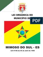 LEI ORGÃNICA DO MUNICÍPIO DE MIMOSO DO SUL