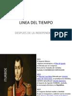 LINEA DEL TIEMPO Despues de La Independencia