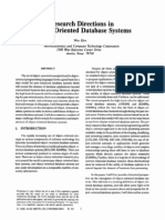 Cl1 02 Wom Kim CL1 Research Directions in Object Oriented Database Systems
