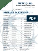 Cartaz Mestrados Sociologia ISCTE-2009-2010
