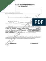 Modelo Contrato Arrendamiento Bolsa Vivienda CANARIAS