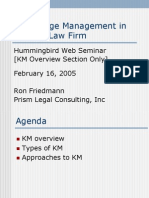 Hummingbird Summit KM Webinar - Prism Legal Consulting - Feb 2005