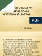 Integración e inclusión social y necesidades educativas especiales