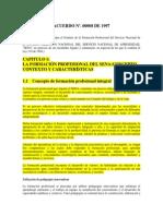 Estatuto de La Fpi 2001 (Resumen)