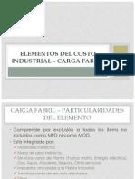 Elementos del costo industrial – carga fabril I