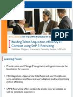 Building Talent Acquisition Efficiency at COMCAST Using Sap E-Rec