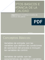 96845681 Conceptos Basicos e Importancia de La Calidad