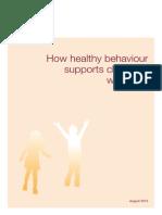 How healthy behaviour supports children's wellbeing