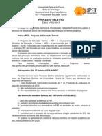 Edital 1 - PS 2013.2 - Blog