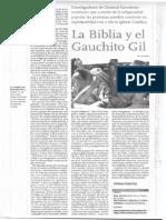 Recorte - Nuria Giniger - La Biblia y El Gauchito Gil