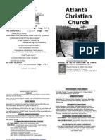 September 15, 2013 Church Bulletin