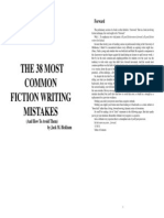 38 most common fiction writing mistakes (and how to avoid them)