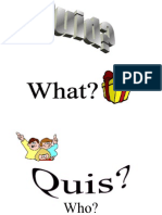 Latin Question Words Posters