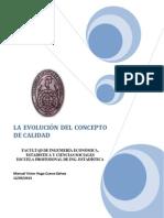 EVOLUCIÓN DEL CONCEPTO DE CALIDAD