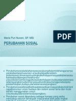 PERUBAHAN SOSIAL