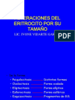 ALTERACIONES DEL ERITROCITO POR SU TAMAÑO