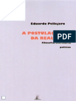 Eduardo Pellejero, A postulação da realidade (Lisboa, Vendaval, 2009)