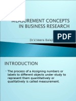 measurement concepts in business research
