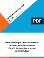 Improve Your Listening Skills