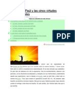 Vicente de Paúl y las cinco virtudes fundamentales