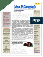 Division D Chronicle Newsletter