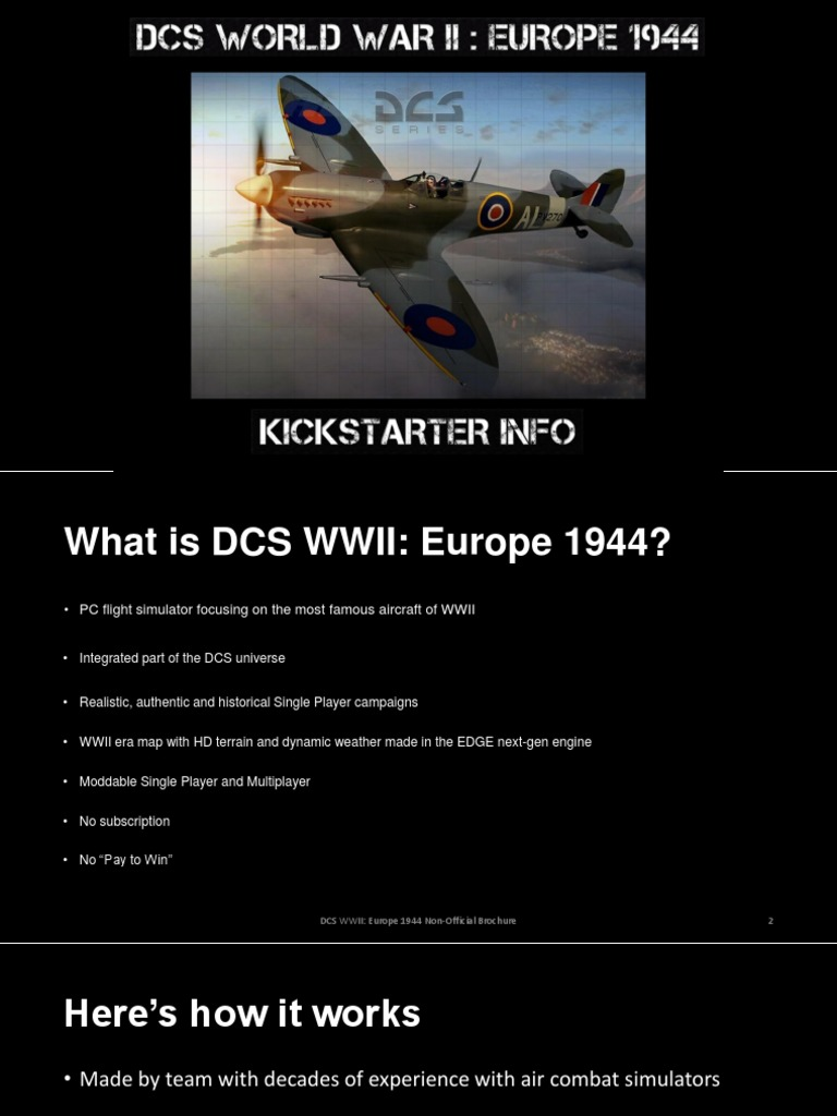 DCS WWII Non-Official Brochure (Download for HD version