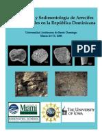 Paleoecologia y Sedimentologia de Arrecifes Coralinos Fosiles Rep Dominicana