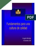 Fundamentos Para Una Cultura de Calidad