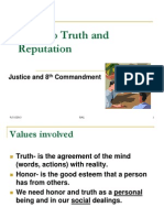 Moral Theology-Truth and Honor