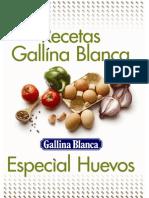 Recetario Huevos Gallina Blanca Ene'08