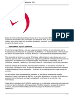 Guatemala Ocupa Puesto 102 Del Indice Tics