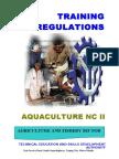 TR - Aquaculture NC II
