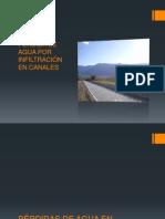 PÉRDIDA DE AGUA POR INFILTRACIÓN EN CANALES