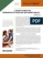 2013 Federal Budget Analysis - WOCPN