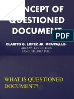 Concept of QUESTIONED DOCUMENT EXAMINATION