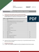 Handout for Nmat 2014 Final