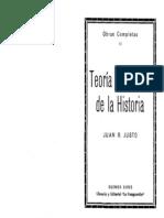 Juan B Justo - Teoría y práctica de la historia