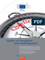 Quantifying Quality Costs and the Cost of Poor Quality in Translation