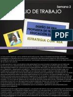 DISEÑO DE UNA PROPUESTA DE TRABAJO EN EDUCACIÓN