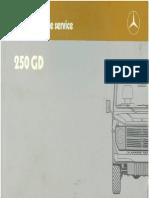 250GD Instr Service 1987