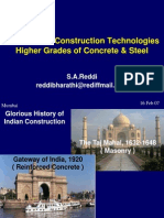 Advances in Construction Technologies Higher Grades of Concrete & Steel