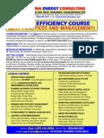 Energy Efficiency Management Course