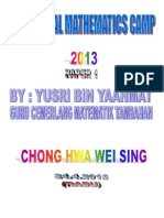 Additional Mathematics Camp 2013