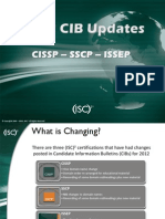 (ISC)2 2012 Candidate Information Bulletins (CIBs) Updates