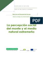 La Percepcion Social Del Monte y El Medio Natural Extremeno